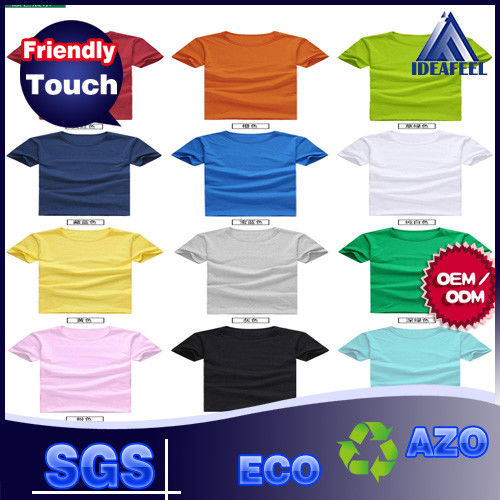 Various Color No Wrinkle Custom Personalized T Shirts For Adults 140g - 180g