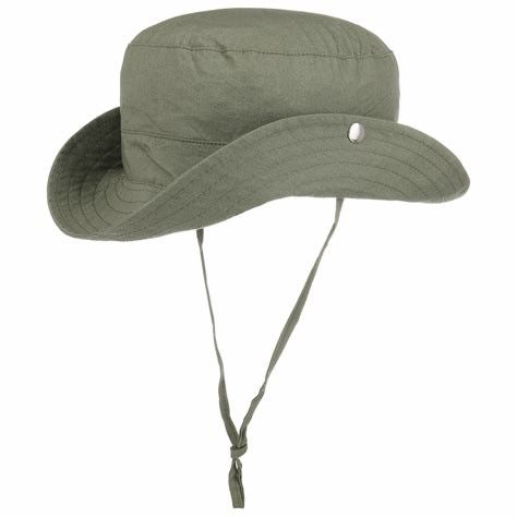 Anti - Wrinkle Summer Sunshade Mens Bucket Hat With String / Cotton Sweatband