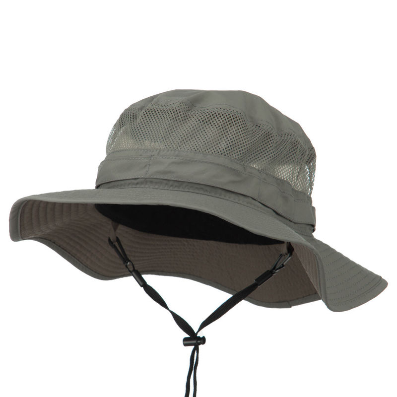 Wool Fedora Floppy Mesh Cotton Bucket Hat Distressed Technics / Cotton Sweatband Available
