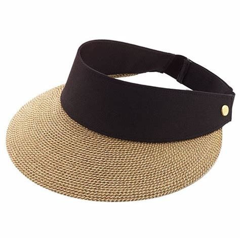 Packable Roll Up Wide Brim Ladies Straw Visor Hats For Outdoor Protecting