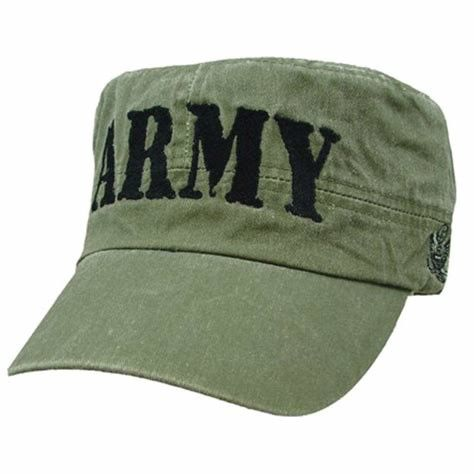 Full Colored Unisex Mens Army Style Hats With Cotton Poly Sweatband 9cm Visor Length